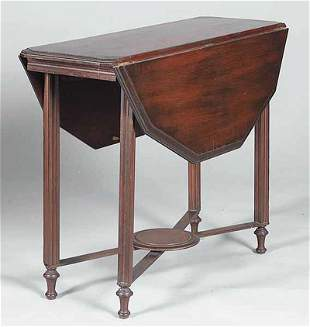 Classical Revival-Style Drop Leaf Side Table