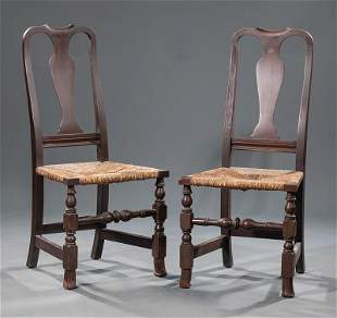 Two Colonial Revival Mahogany Side Chairs