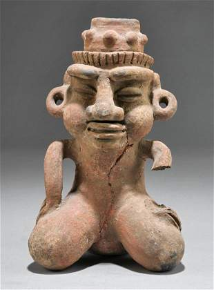 Pre-Columbian-Style Pottery Vessel