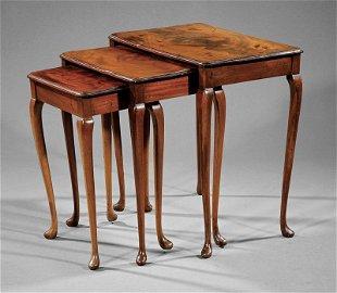 Georgian-Style Mahogany Nest of Tables