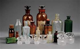 Colored Glass Apothecary Jars  Medecine Bottles