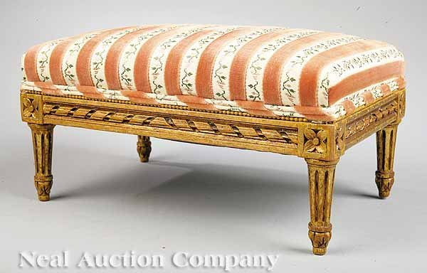 1: Near Pair of Louis XVI-Style Footstools