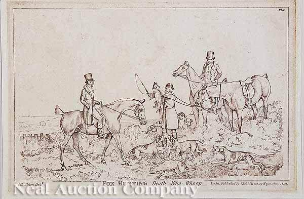 7: After Henry Alken, four engravings