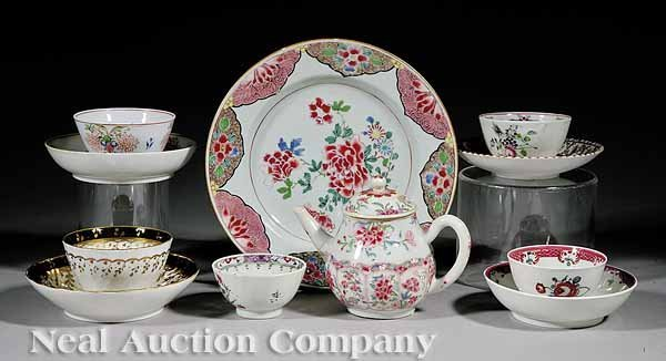 9: English and Asian Porcelain Tea Ware, Worcester