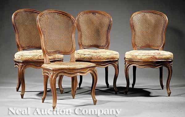 16: Four Louis XV Side Chairs, Nogaret a Lyon