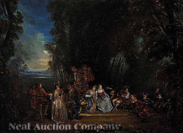 20: Nicolas Lancret, French School, oil on board