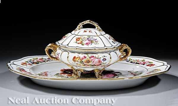 51: Paris Porcelain Lidded Tureen and Platter