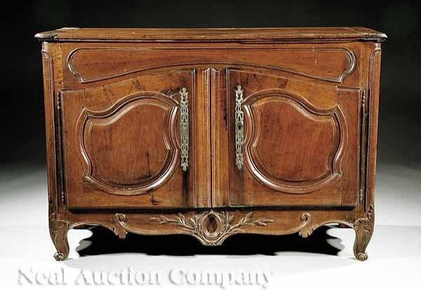 55: Louis XVI Walnut Buffet Bas