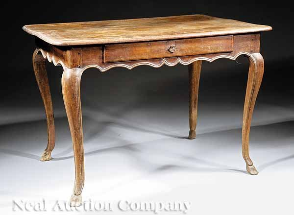 57: Provincial Louis XV Carved Walnut Tea Table