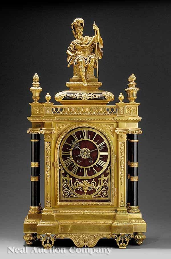 66: Continental Figural Clock