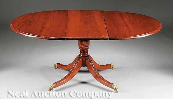 69: George III-Style Mahogany Pedestal Dining Table