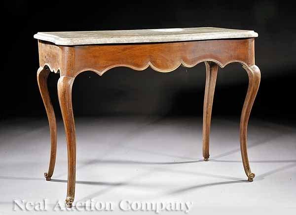 70: Louis XV Walnut Console Table