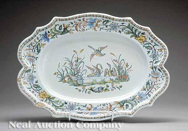 72: French Faïence Platter, Sincney