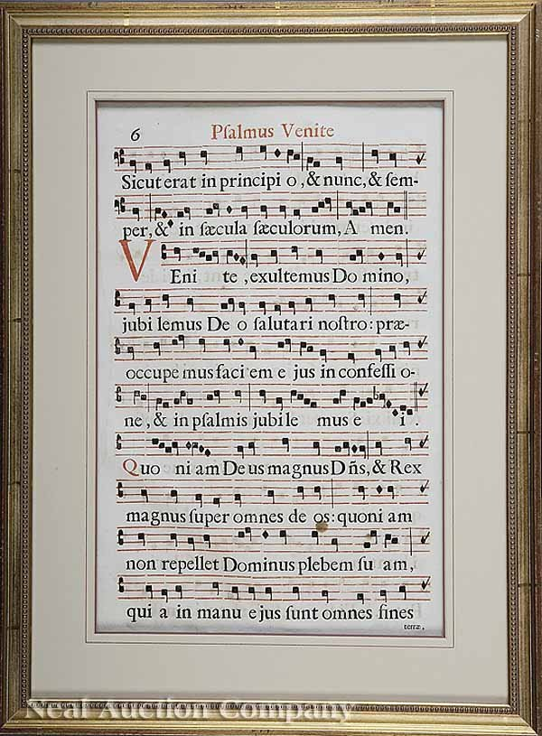 162: Pair of Continental Gregorian Chant Print Sheets