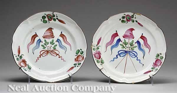 213: Two French Faience Plates, Nevers