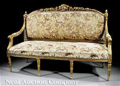 881 Louis XVIStyle Carved and Giltwood Parlor Suite