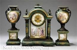 906 Gilt BronzeMounted Porcelain Clock Garniture
