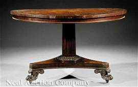 1155 American Classical Carved Mahogany Center Table