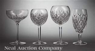 Waterford Cut Crystal Parital Stemware Service