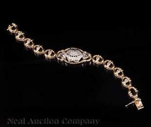 Gold and Diamond Flexible Link Bracelet