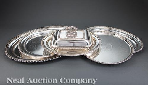 Group of Ellis-Barker Silverplate Serving Pieces