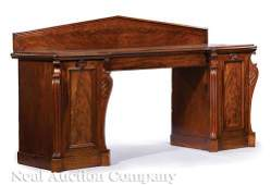 Regency Carved Mahogany Sideboard