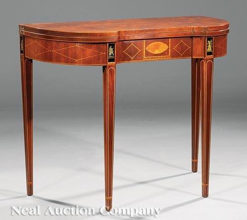 Baker Furniture Inlaid Mahogany Games Table