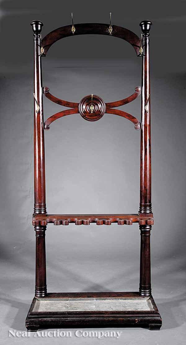 0003: American Classical Mahogany Hallstand