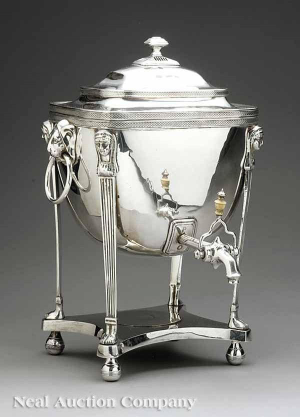 0013: Regency Sheffield Plate Tea Urn