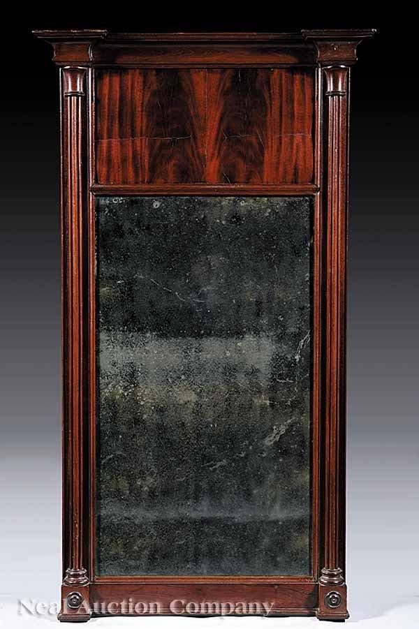 0019: American Classical Mahogany Pier Mirror