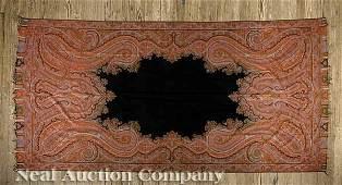 0157: Scottish Woven Wool Paisley Shawl