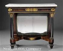 0385 Gilt Stenciled Mahogany Pier Table