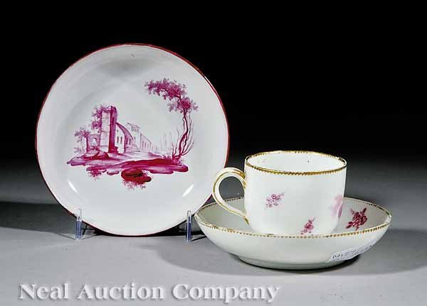 0714: Sevres Porcelain Cup and Saucer