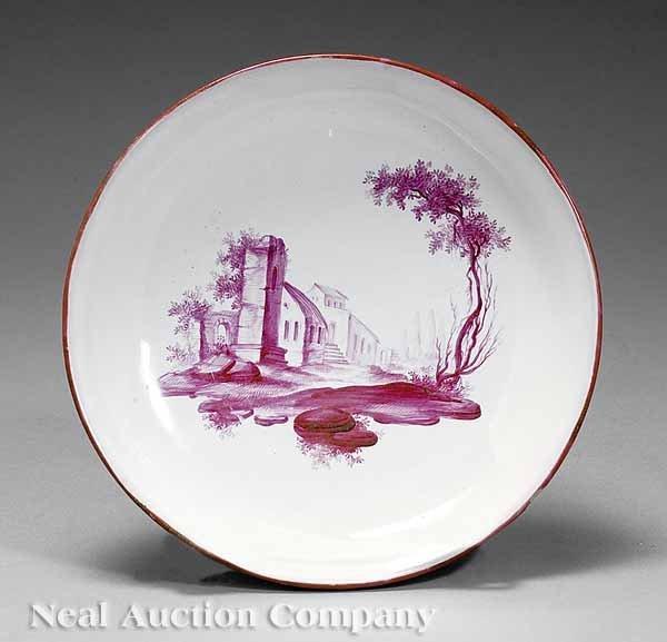 0722: Four Polychrome and Gilt Porcelain Saucers
