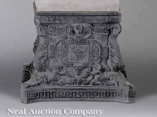 0724: Four Renaissance-Style Cast Iron Pedestals