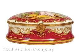 Sevres-Style Porcelain Dresser Box