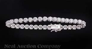 18 kt White Gold and Diamond Bracelet