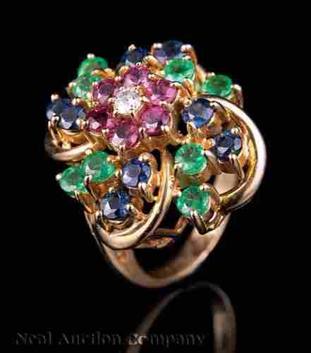 Gold, Ruby, Sapphire, Emerald, Diamond Jewelry