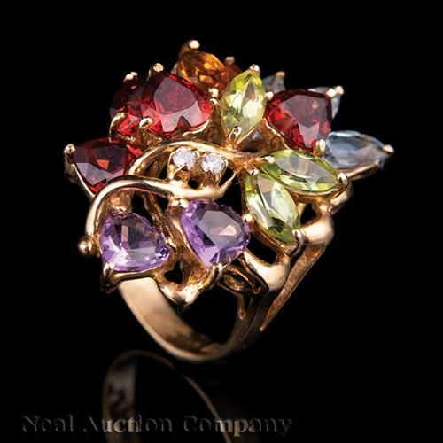 14 kt. Yellow Gold and Gemstone Jewelry