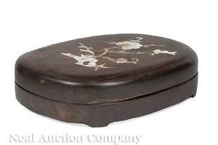 Chinese Inlaid Hardwood Case