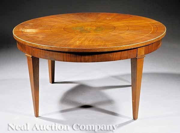 19: English Inlaid Mahogany Low Table