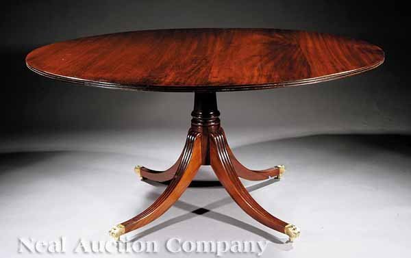20: George III-Style Mahogany Dining Table