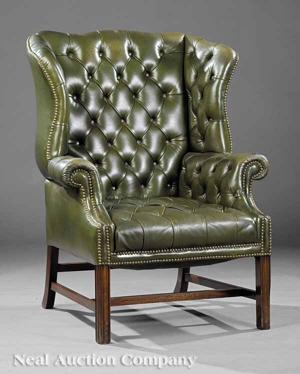 23: Georgian-Style Mahogany Wingchair
