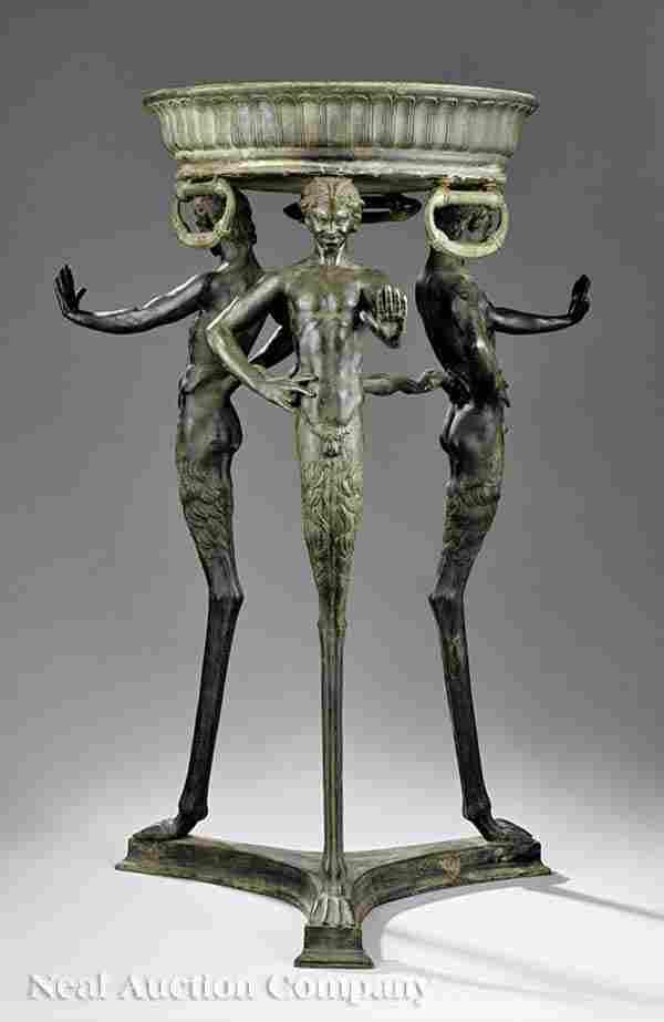 59: Italian Bronze Figural Jardiniere