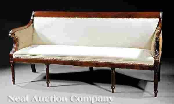 61: Connelly and Haines Mahogany Sofa