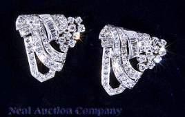 143 Pair of Platinum and Diamond Clips