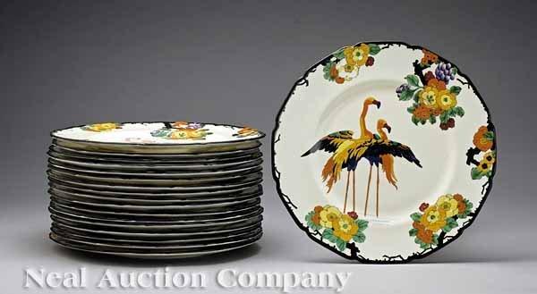 627: Vintage Royal Doulton Flamingo Motif Plates