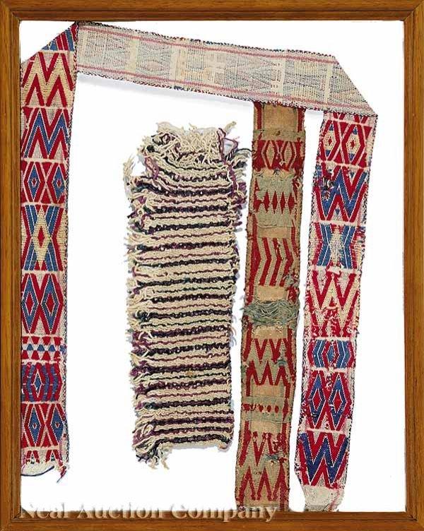 632: Pre-Columbian Wool,Cotton Textile Fragments