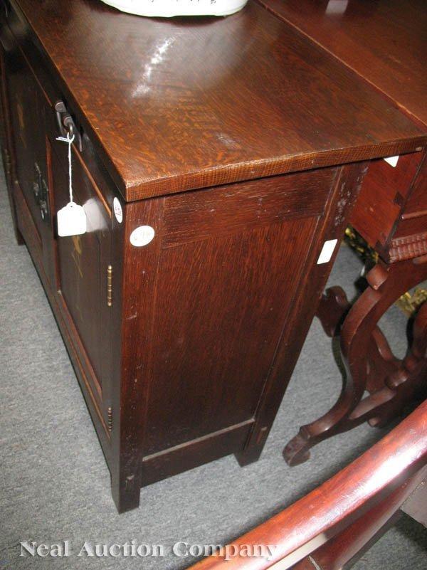 646: Stickley Harvey Ellis Oak and Inlaid Credenza - 2