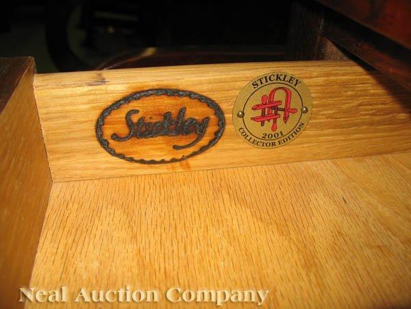 646: Stickley Harvey Ellis Oak and Inlaid Credenza - 5